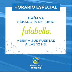 Horario especial Falabella