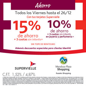 Viernes 15% Supervielle